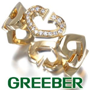 カルティエ リング 指輪 ダイヤ ダイヤモンド Cハート 51号 K18YG BLJ|greeber01
