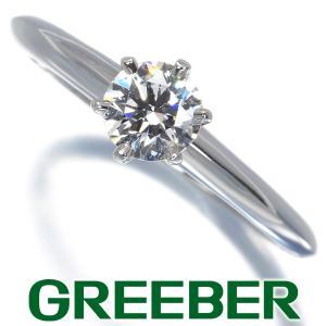 ティファニー リング 指輪 ダイヤ ダイヤモンド 0.42ct G VVS1 EX ソリティア 9.5号 Pt950/プラチナ 鑑定書 BLJ|greeber01