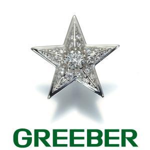 スターカットダイヤ ダイヤモンド 0.184ct スター 星 片耳 ピアス Pt900/プラチナ GENJ|greeber01
