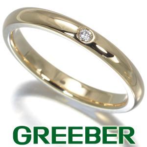 ティファニー リング 指輪 ダイヤ ダイヤモンド スタッキングバンド 12号 K18YG BLJ|greeber01
