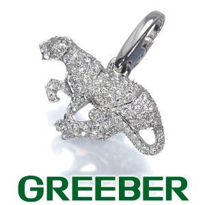 カルティエ ペンダントトップ ダイヤ ダイヤモンド パンテール パンサー アニマル チャーム K18WG BLJ|greeber01