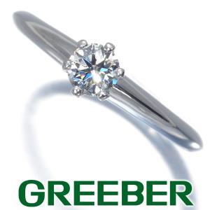ティファニー リング 指輪 ダイヤ ダイヤモンド 0.25ct ソリティア 9号 Pt950/プラチナ BLJ|greeber01