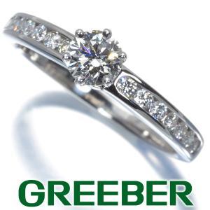 ティファニー リング 指輪 ダイヤ ダイヤモンド 0.35ct チャネルセッティング ソリティア 11号 Pt950/プラチナ BLJ|greeber01