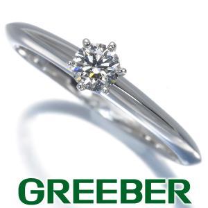 ティファニー リング 指輪 ダイヤ ダイヤモンド 0.22ct ソリティア 12号 Pt950/プラチナ BLJ|greeber01