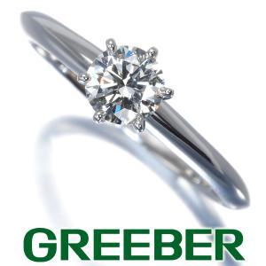 ティファニー リング 指輪 ダイヤ ダイヤモンド 0.44ct ソリティア 11号 Pt950/プラチナ BLJ|greeber01