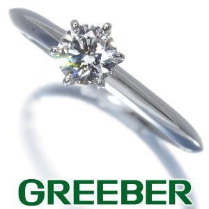 ティファニー リング 指輪 ダイヤ ダイヤモンド 0.43ct I VVS2 3EX ソリティア 12号 Pt950/プラチナ 鑑定書 BLJ|greeber01