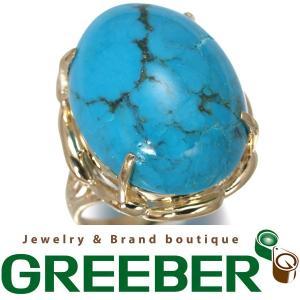 ターコイズ トルコ石 リング 指輪 K18YG 9号 GENJ 限界値下げ品|greeber01