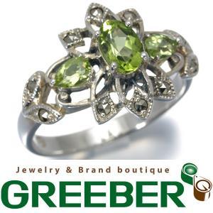 ロクザン リング 指輪 ペリドット マーカサイト シルバー BLJ/GENJ|greeber01