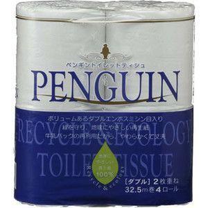 トイレットペーパーまとめ買い☆ ペンギン/ダブル32.5M/4ロール×24/96ロール/トイレットペーパー 1009|green-consumer-shop|02