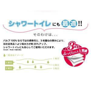 【送料無料】くまモンのトイレットペーパー パルプ100% 3枚重ね 96ロール(12ロール×8パック) トイレットロール  ハッピーフラワーの香り|green-consumer-shop|04