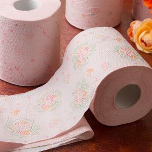 【送料無料】「ラコシア」 ダブル まとめ買い 96ロール トイレットロール 21種類のお花のプリント ローズの香り ピンクリボン チャリティーロール|green-consumer-shop|02