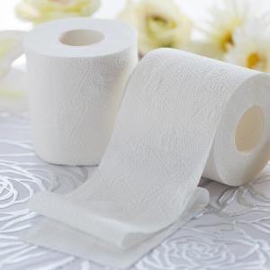 【送料無料】《Hanataba》トイレットロール 12ロール 3枚重ね パルプ100% 上品なデザインエンボス加工 吸水性抜群 シャワートイレに最適|green-consumer-shop|02