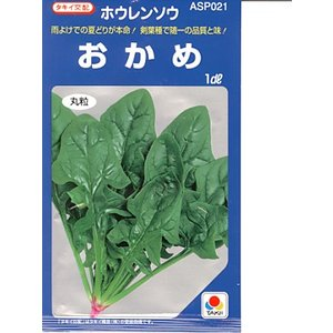 ほうれん草 タキイ交配・・・おかめ・・・<タキイのほうれん草です。 種のことならお任せグリーンデポ>|green-depo-1