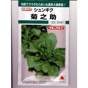 タキイ交配 シュンギク 菊之助     タキイ種苗の春菊品種です|green-depo-1