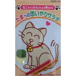 たまへの思いやりサラダは、通称ネコ草やペットグラスと呼ばれている草の種です。  猫や犬が毛や異物を吐...