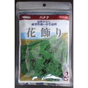 食用ナバナ サカタ交配 花飾り サカタのタネの食用ハナナ品種です。種2dl規格|green-depo-1