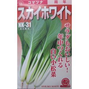 スカイホワイトは、柔らかくて美味しい小松菜品種です。 サラダでも美味しく食べられます。 大きくなって...