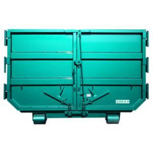 4トン車脱着用8立方メートル2扉コンテナ(舟底仕様)|green-eco-kk