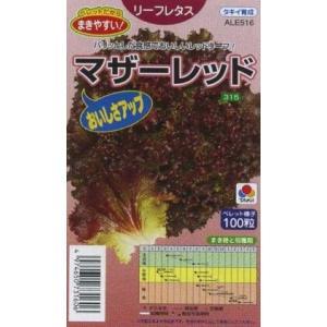 野菜種 リーフレタス マザーレッド(コート種) 晩抽性は「晩抽レッドファイヤー」並みで、耐暑性も強い...