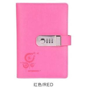 鍵付き システム 手帳 ナンバー ロック プライバシー 秘密 A6 ピンク
