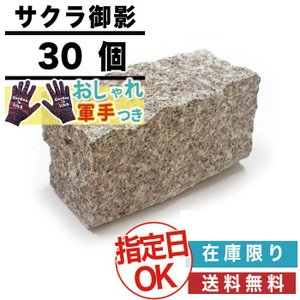 ピンコロ 当店オリジナル サクラ御影石 バイオレットピンク ピンコロ2丁 19×9×9cm 30個セ...