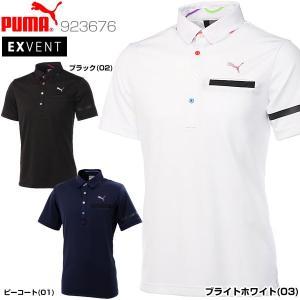 プーマ メンズ ゴルフウェア NITE ポケット ベント 半袖ポロシャツ 923676 2018年春夏モデル M-XL...