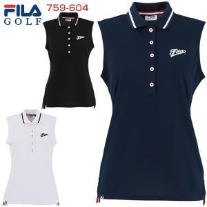 fcc7603796197 フィラゴルフ レディース ゴルフウェア プレミアムカノコ ノースリーブ ポロシャツ 759-604 2019年春夏モデル M-L