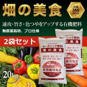 『畑の美食』20kg【2袋セット】 元肥 追肥 アルム  即効性 ペレット 家庭菜園用 greenfront