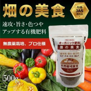 『畑の美食』 500g「有機JAS適合」即効性 ペレット 家庭菜園用 肥料 greenfront