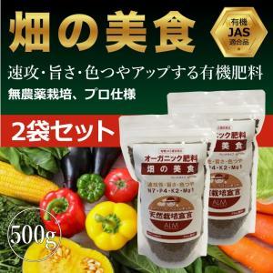 『畑の美食』 500g 【2袋セット】「有機JAS適合」即効性 ペレット 家庭菜園用 肥料 greenfront