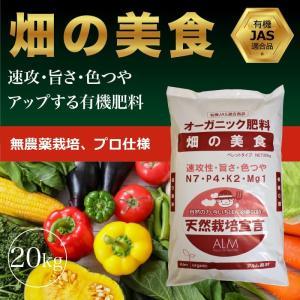 『畑の美食 20kg「有機JAS適合」即効性 ペレット 家庭菜園用 肥料|greenfront
