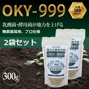 『OKY‐999』300g ぼかし肥料【2袋セット】「有機JAS適合」乳酸菌 野菜 放線菌 酵母菌 土づくり&有機物分解促進 強力土壌改良材|greenfront