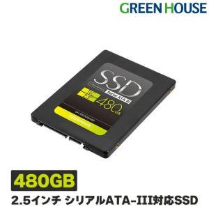 3年保証 SSD 480GB 2.5インチ シリアルATA-III (6Gb/s)対応高速モデル GH-SSDR2SA480 外付けハードディスク 外付け グリーンハウス greenhouse-store