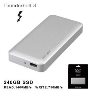 送料無料 240GB ThunderboltTM3 外付けSSD GH-SSDTB3A240 ssd 480gb 外付けハードディスク 外付けssd グリーンハウス greenhouse-store