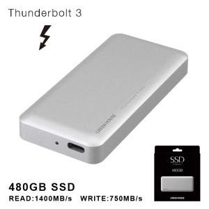 送料無料 480GB ThunderboltTM3 外付けSSD GH-SSDTB3A480 ssd 480gb 外付けハードディスク 外付けssd グリーンハウス greenhouse-store