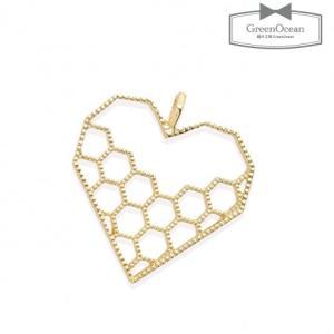 【空枠】ハチの巣 ハートフレーム 《きれいめゴールド 》 [...