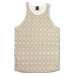 Phatee (ファッティー) HEALTHY TANK TOP PRINTED ヘンプコットン 総柄 タンクトップ / MOROCCO BEIGE|greenplanet