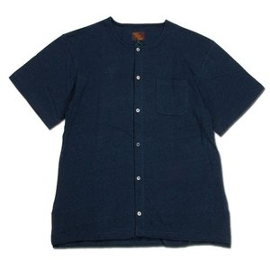 Phatee (ファッティー) TEKIYA TEE HEMP ヘンプコットン ワイドシルエット フロントオープン Tシャツ / NAVY|greenplanet