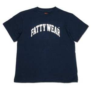Phatee (ファッティー) FATTY TEE ヘンプコットン ロゴプリント ビッグシルエット Tシャツ / NAVY|greenplanet