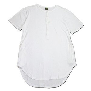 Phatee (ファッティー) SLEEPING TEE HENRY ヘンプコットン ヘンリーネック Tシャツ / WHITE|greenplanet