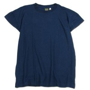 Phatee (ファッティー) HALF SLEEVE TEE ヘンプコットン Tシャツ / NAVY|greenplanet