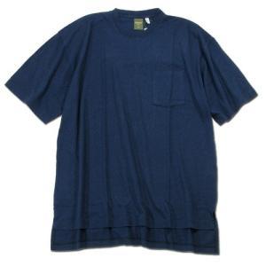 Phatee (ファッティー) SLOPPY TEE POCKET ヘンプコットン Tシャツ / NAVY|greenplanet