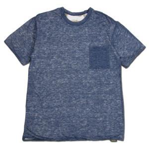 Phatee (ファッティー) W FACE S/S TEE リネン ヘンプコットン リバーシブル Tシャツ / NAVY x FISH|greenplanet