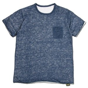 Phatee (ファッティー) W FACE S/S TEE リネン ヘンプコットン リバーシブル Tシャツ / NAVY x WHITE|greenplanet