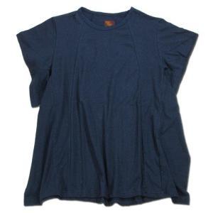Phatee (ファッティー) FLY TEE ヘンプコットン ワイドアームホール Tシャツ / NAVY|greenplanet