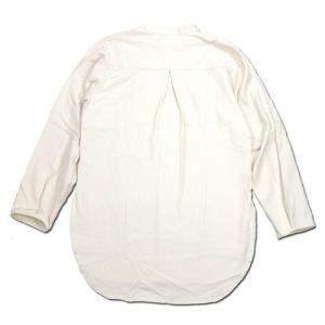 Phatee (ファッティー) KAIKO SHIRTS BC コットンネル ロングスリーブ バンドカラーシャツ / IVORY|greenplanet|04