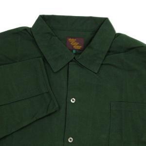 Phatee (ファッティー) CAMP COLLAR SHIRTS コットンネル ロングスリーブ キャンプカラーシャツ / DEEP GREEN greenplanet 02