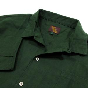 Phatee (ファッティー) CAMP COLLAR SHIRTS コットンネル ロングスリーブ キャンプカラーシャツ / DEEP GREEN greenplanet 03