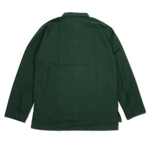 Phatee (ファッティー) CAMP COLLAR SHIRTS コットンネル ロングスリーブ キャンプカラーシャツ / DEEP GREEN greenplanet 05