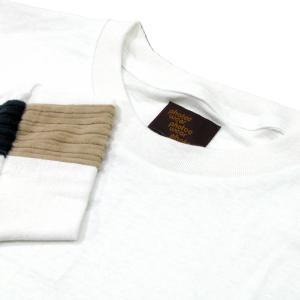 Phatee (ファッティー) LINE PATCH L/S TEE ヘンプコットン ロングスリーブ Tシャツ / WHITE|greenplanet|02